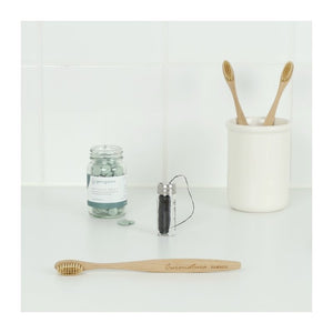 Curanatura Bamboo Toothbrush with Bamboo Bristles
