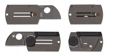 Spyderco Dog Tag Folder Black Ti - Alpha Bushcraft