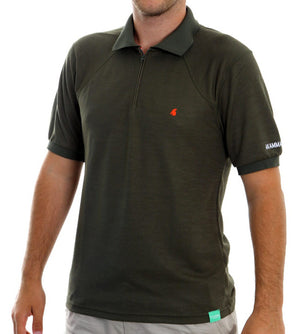 Lopi Bamboo Thermoregulator Hot Weather Polo Shirt Khaki by Akammak