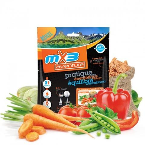 MX3 Vegetable and Pasta Vegetarian Meal Pouch - Just Add Hot Water!