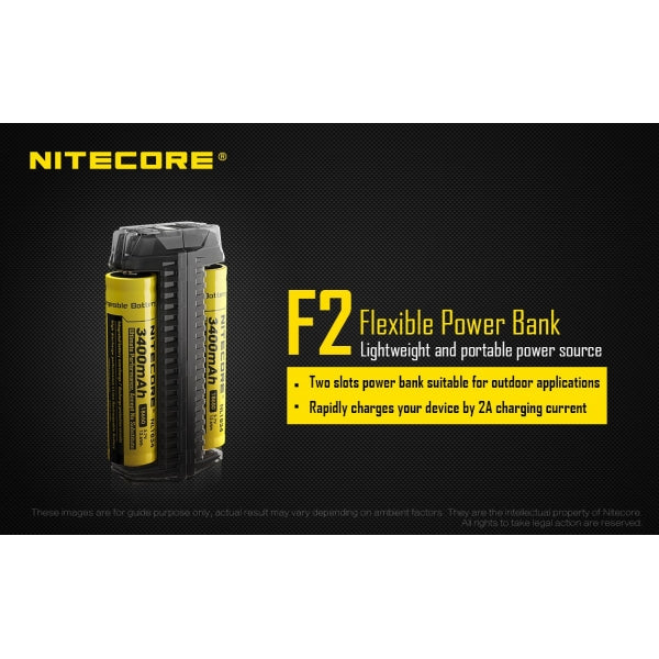 Nitecore F2 Power Bank and Charger