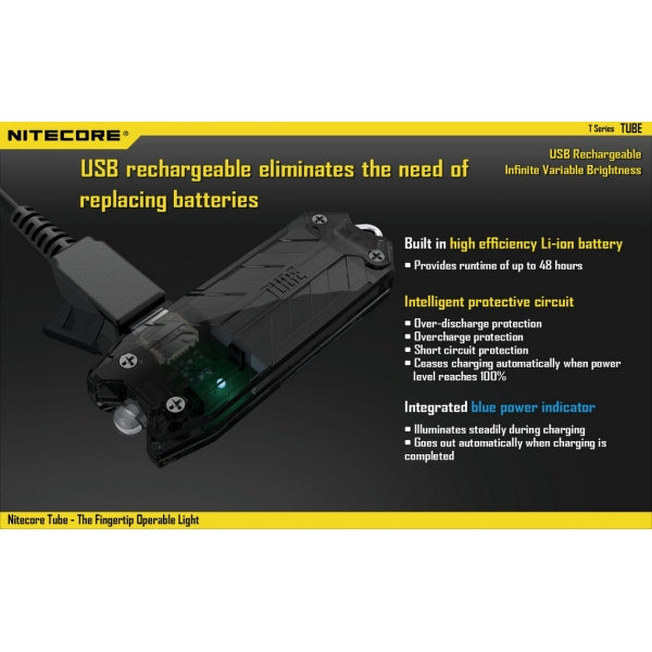Nitecore Tube Rechargeable Flashlight