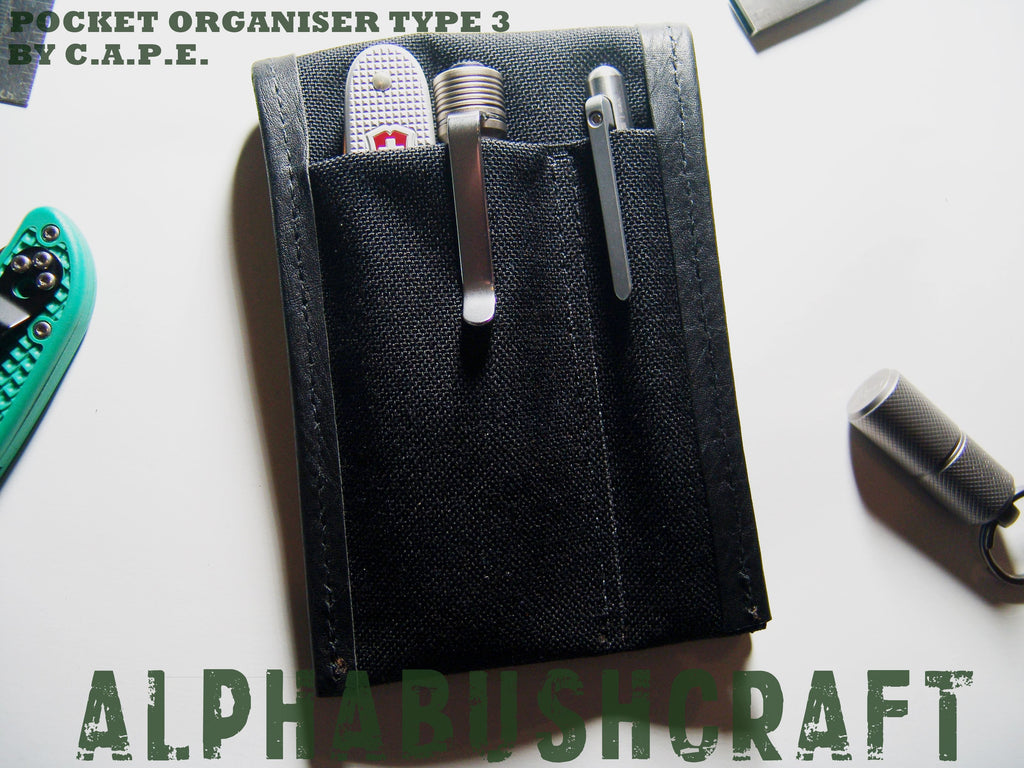 CAPE Pocket Organiser Organizer Pouch Type 3 Handmade UK