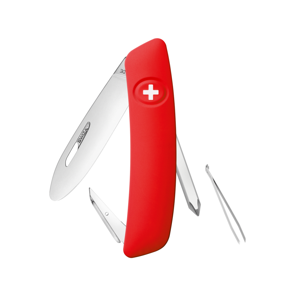 Swiza J02 Red Genuine Swiss Lock Knife Multitool