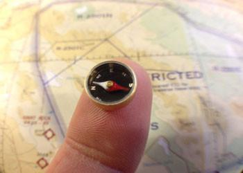 Micro Survival Button Compass
