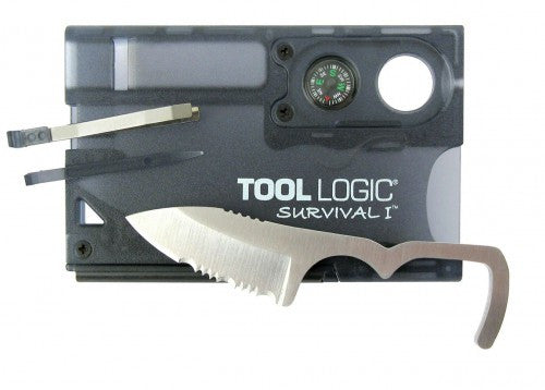 Tool Logic Survival Card 1 Black - Alpha Bushcraft