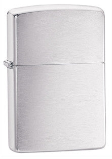 Zippo Classic Petrol Lighter Brushed Chrome - Alpha Bushcraft