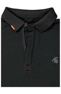 Moory Bamboo Thermoregulator Stealth Black Polo Top by Akammak