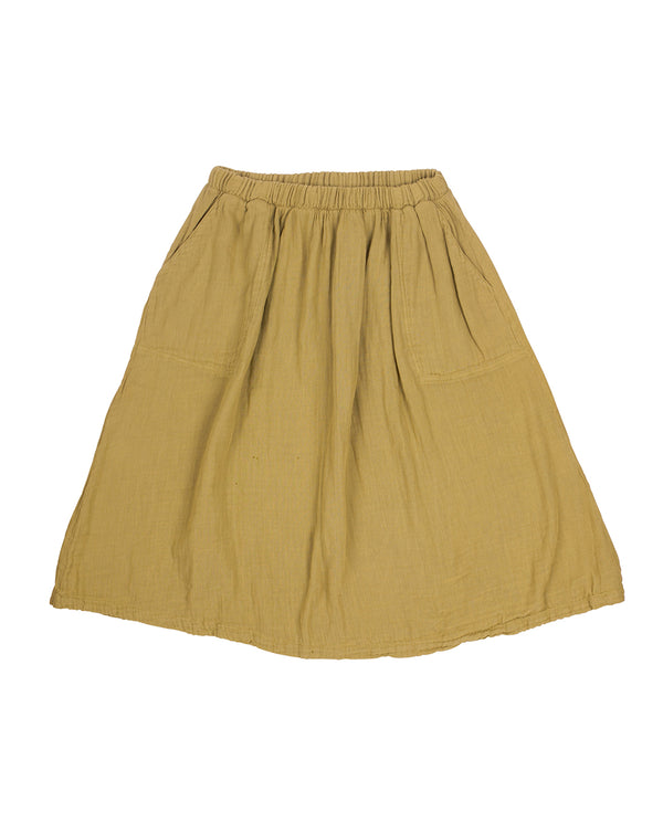 Falda midi color khaki