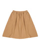 Falda midi color camel