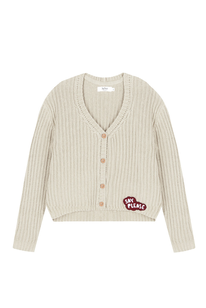 Chaqueta Tricot Creme Brulee