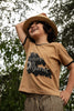 Camiseta color camel The future is organic