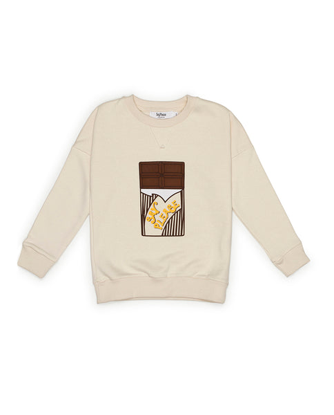 Sudadera Chocolatina Color Crudo