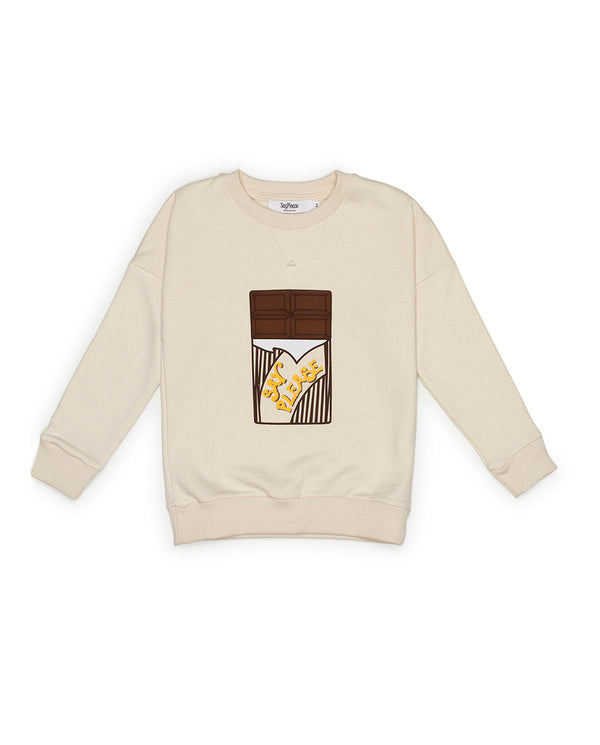 Sudadera Chocolatina Color Crudo - SayPlease