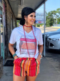 The Mexia Serape Short in Red