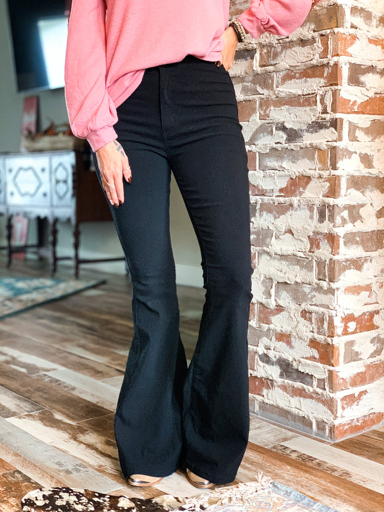 The Ropesville Bell Bottoms in Black