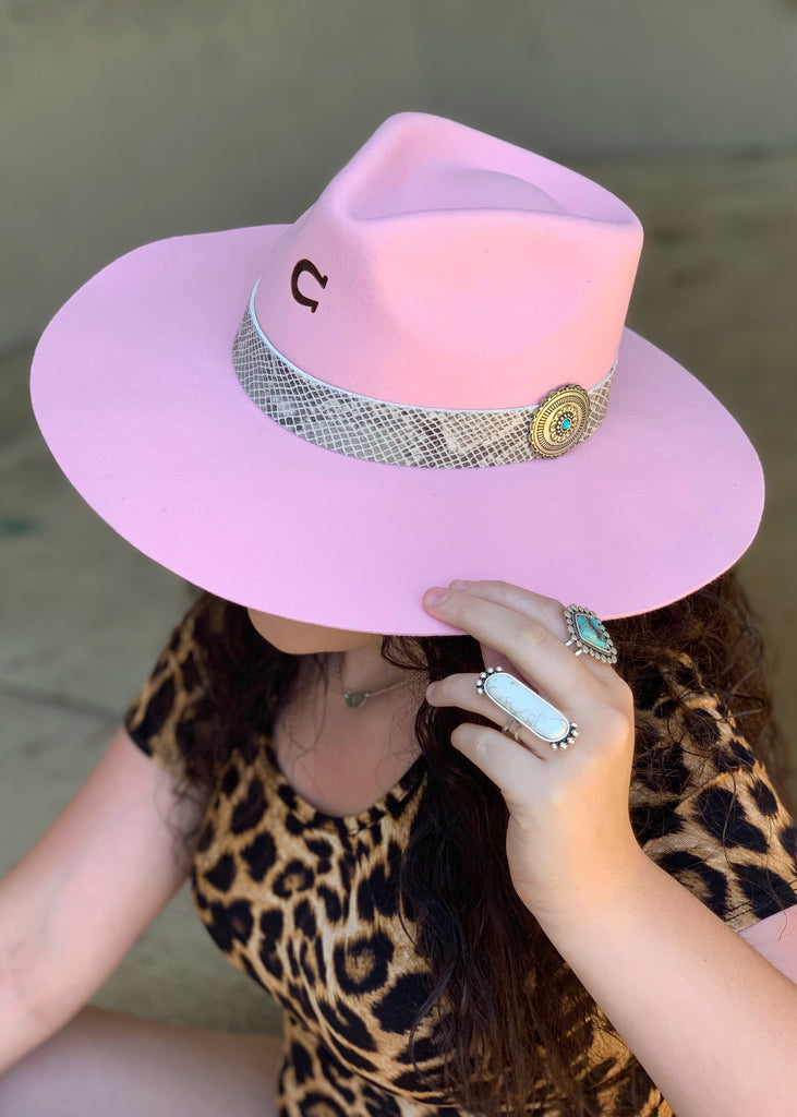 The Sidewinder Charlie 1 Horse Hat in Pink