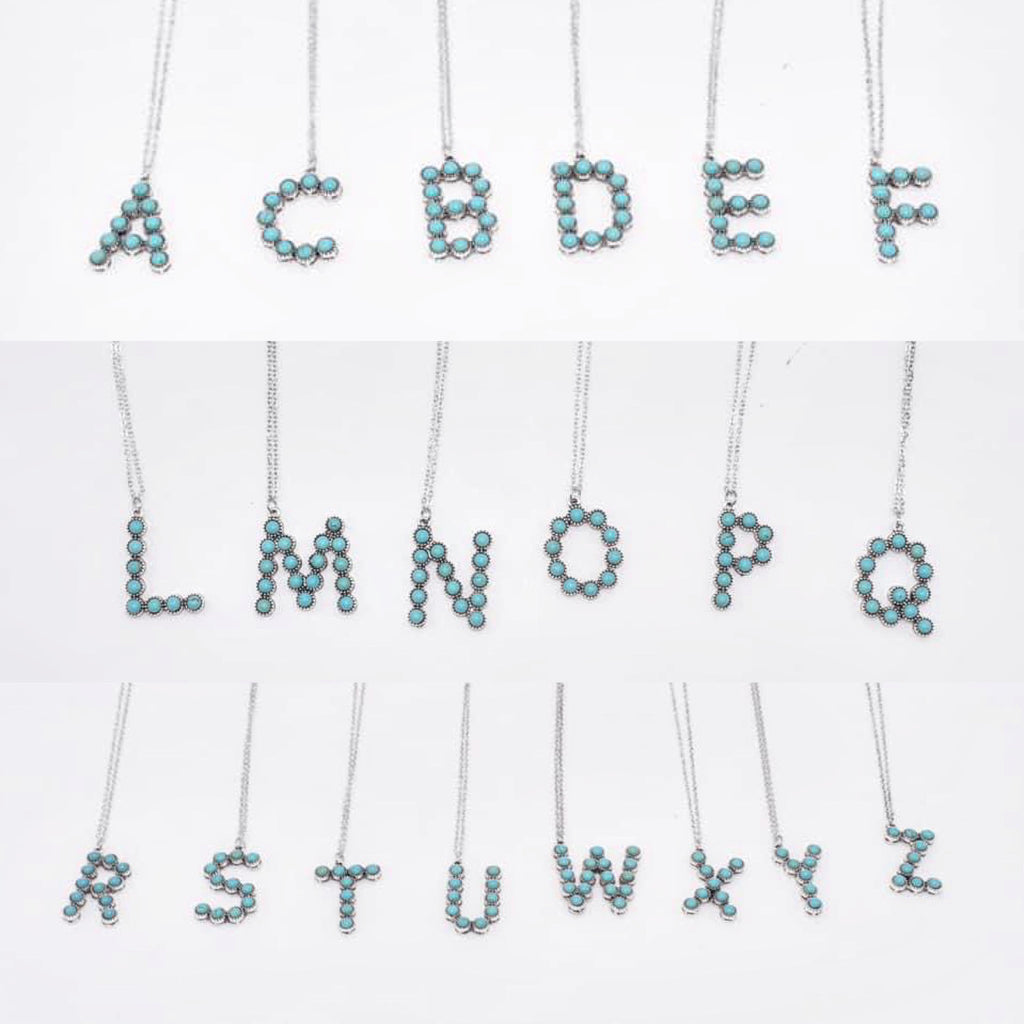 The Nome Turquoise Initial Necklace