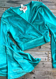 The Webster Crop Top in Turquoise - Gypsy Waltz