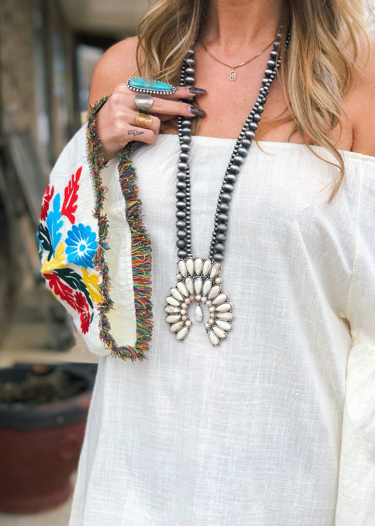 The Omaha Necklace in Ivory - Gypsy Waltz
