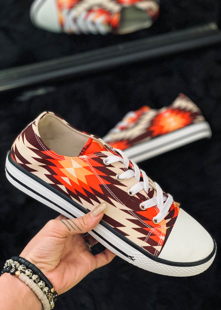 The La Grange Red Aztec Sneaker
