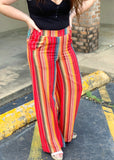 The Mineola Pants in Red (S-3X)
