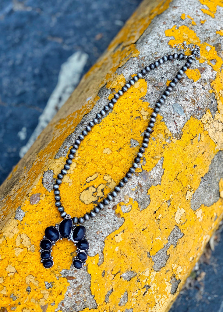 The Vega Necklace in Black