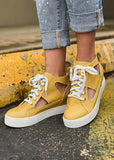 The Edgewood Sneaker in Mustard - Gypsy Waltz