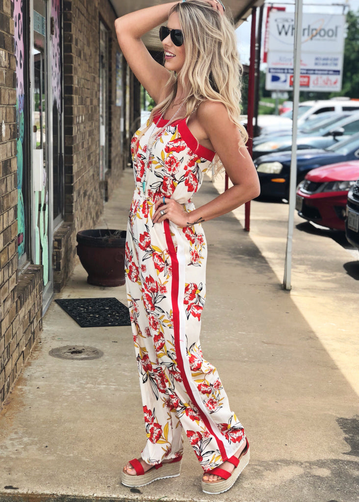 The Pearsall Jumpsuit in Cream - Gypsy Waltz