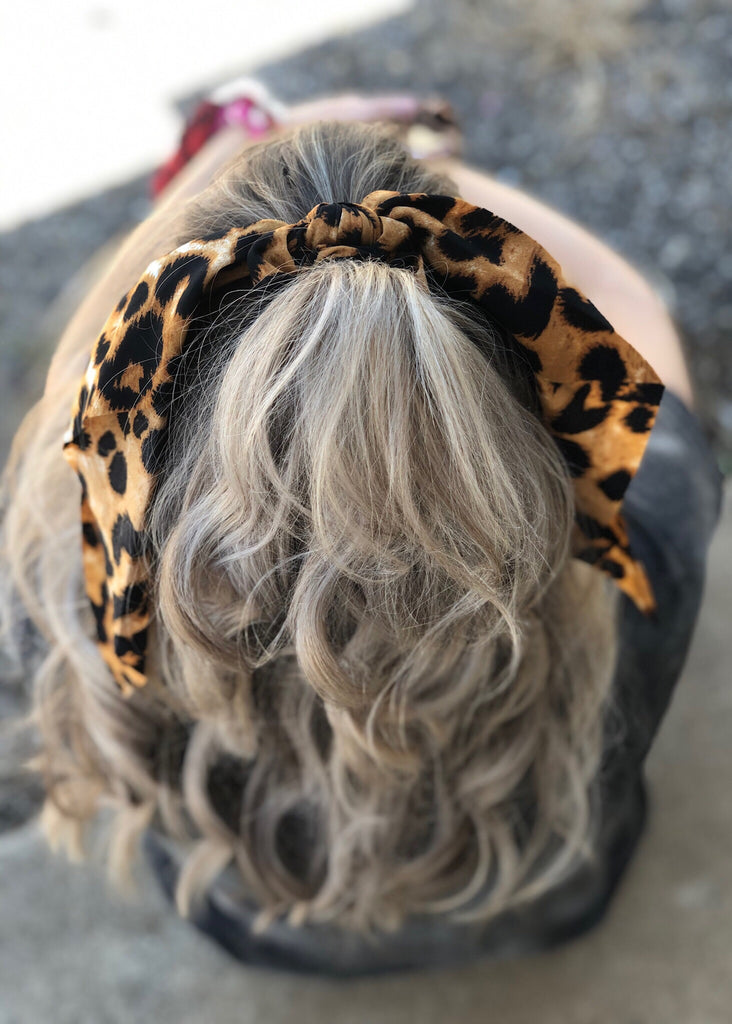 The Simms Ponytail Scrunchie in Cheetah
