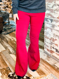 The Ropesville Bell Bottoms in Maroon