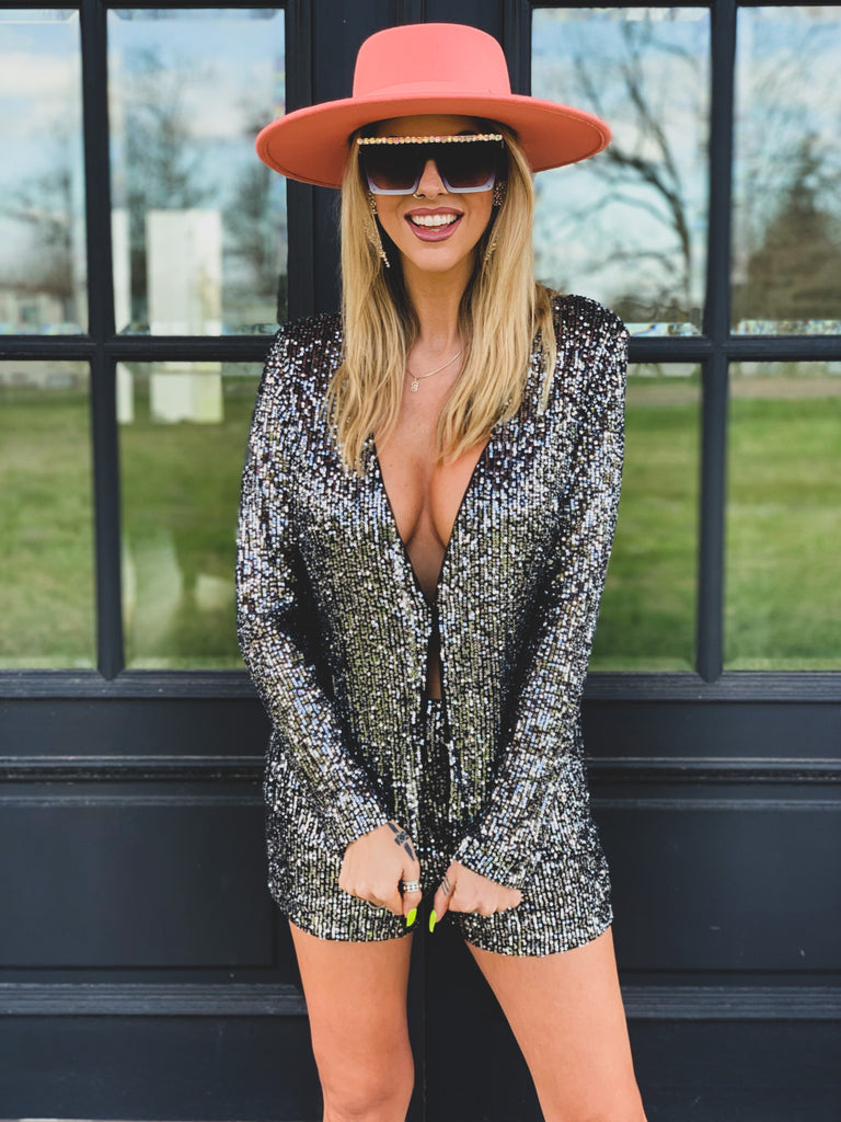 The Bovina Two Piece Sequined Set