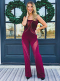 The Marshall Jumpsuit in Maroon