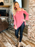 The Bellville Tunic Top in Mauve Rust