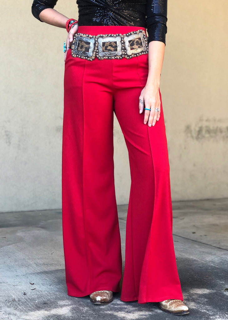 The Ector Pants in Red (S-3X) - Gypsy Waltz