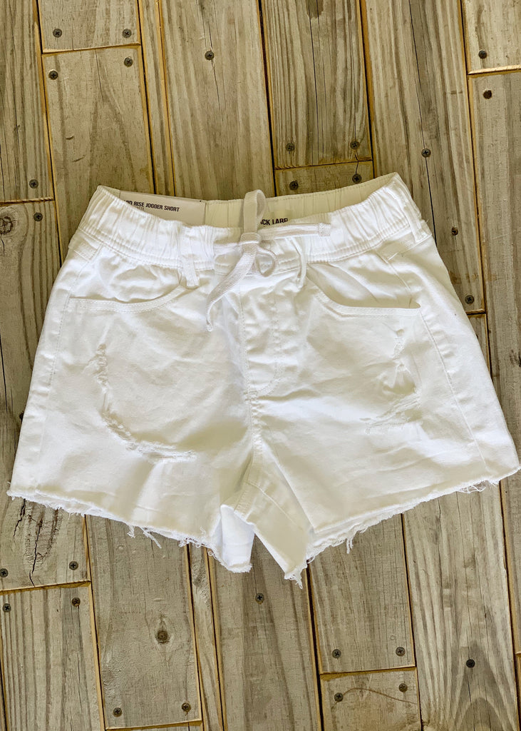 The Pampa Drawstring Shorts in White - Gypsy Waltz