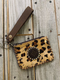 The Brazoria Coin Wristlet in Leopard