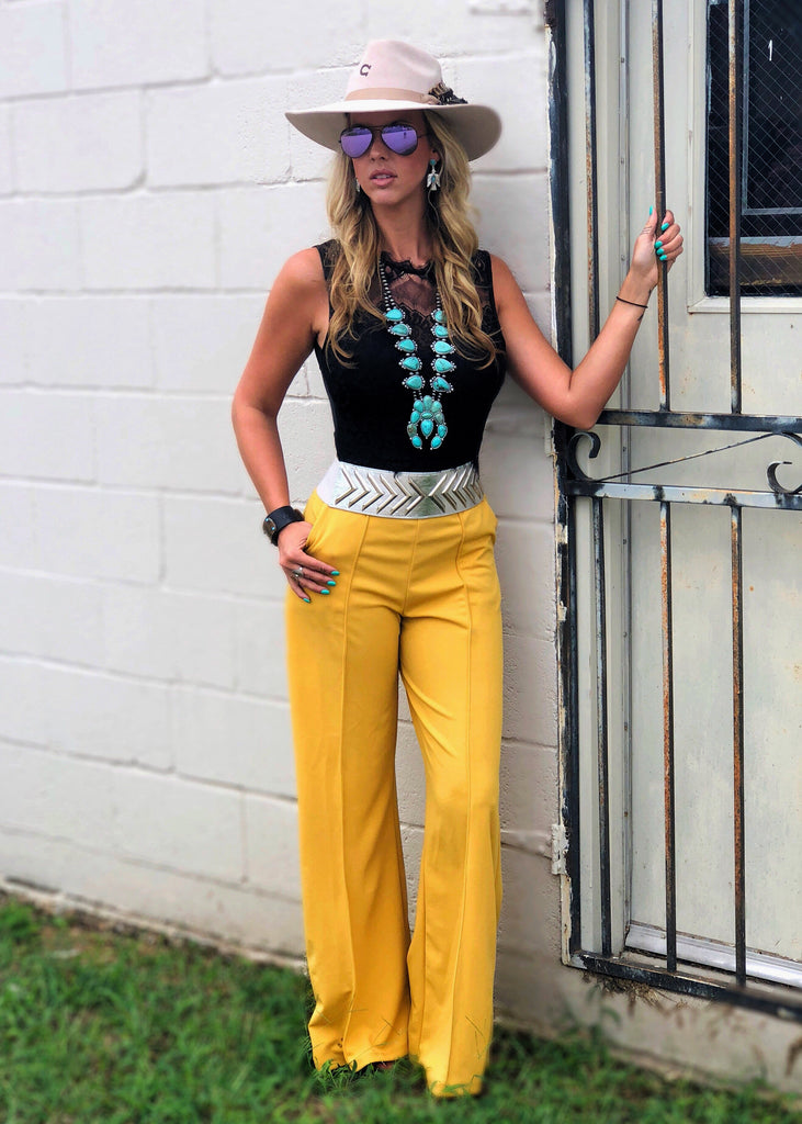 The Ector Pants in Mustard - Gypsy Waltz