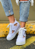 The Edgewood Sneaker in White - Gypsy Waltz