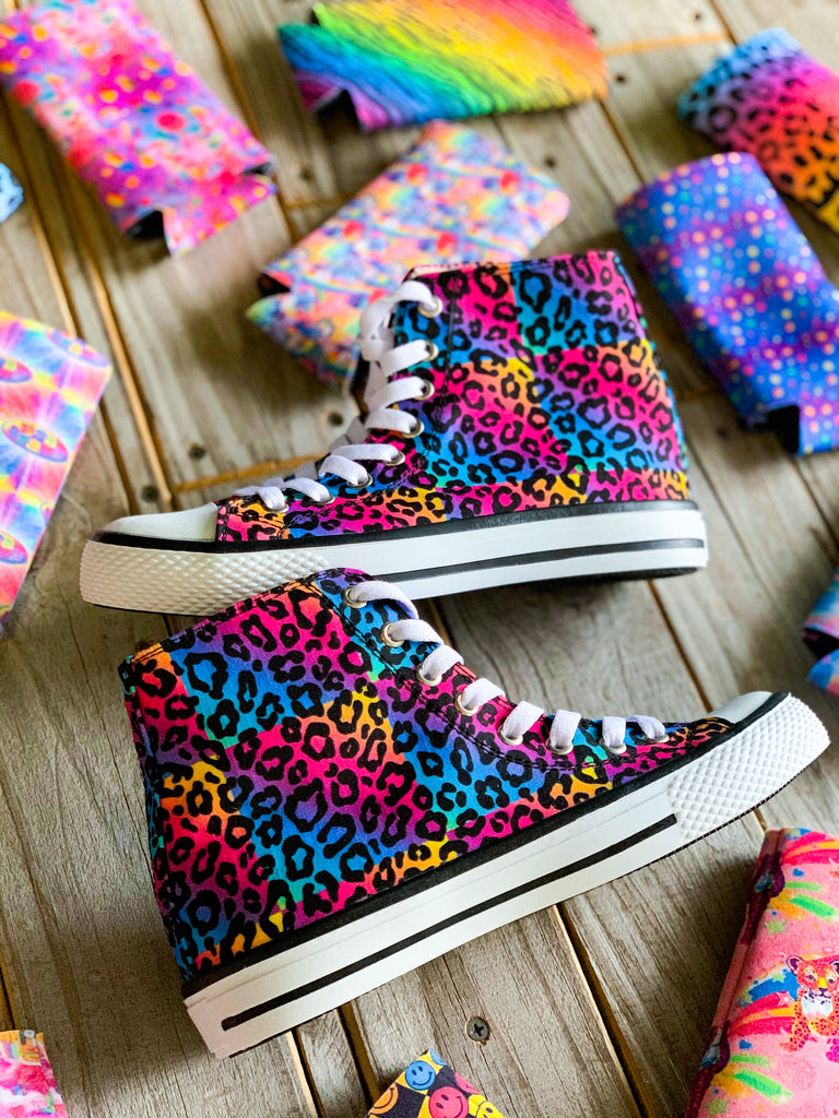 The Fredericksburg Rainbow Leopard Hi-Top Sneaker