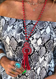 The Howe Necklace in Red