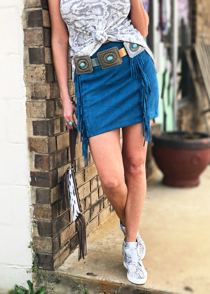 The Madisonville Skirt in Teal