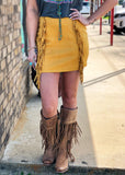 The Madisonville Skirt in Mustard