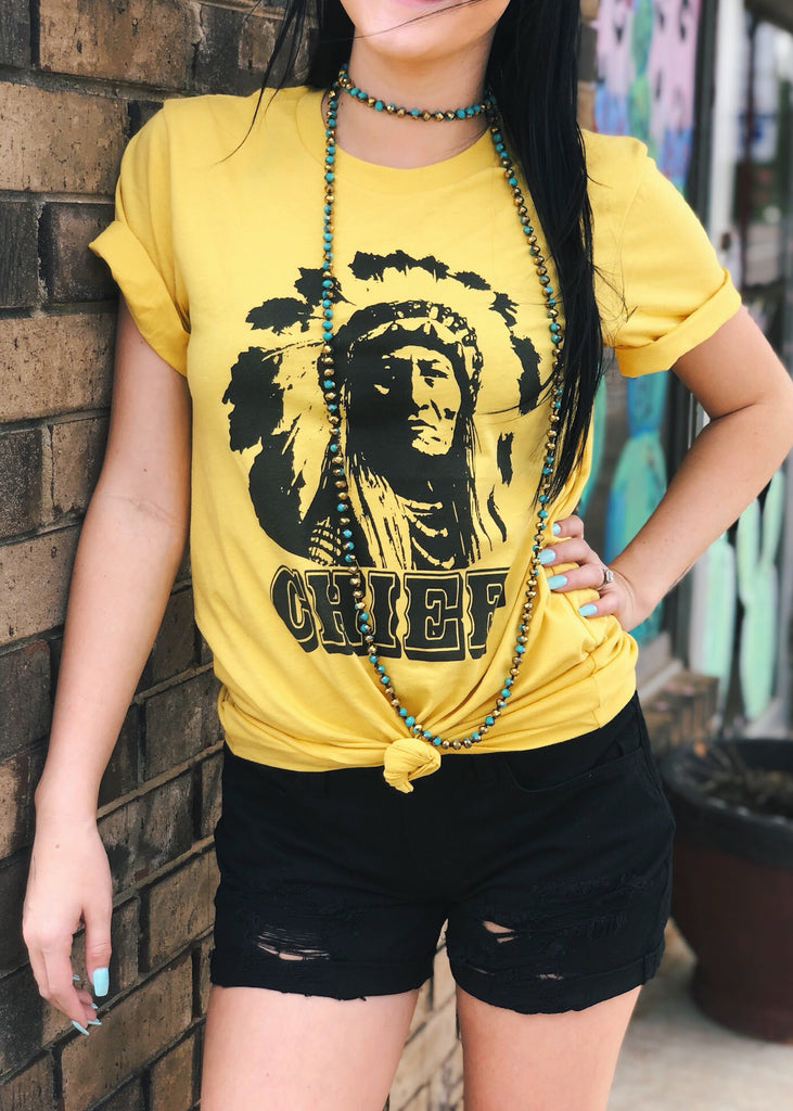 The Olton Tee in Yellow
