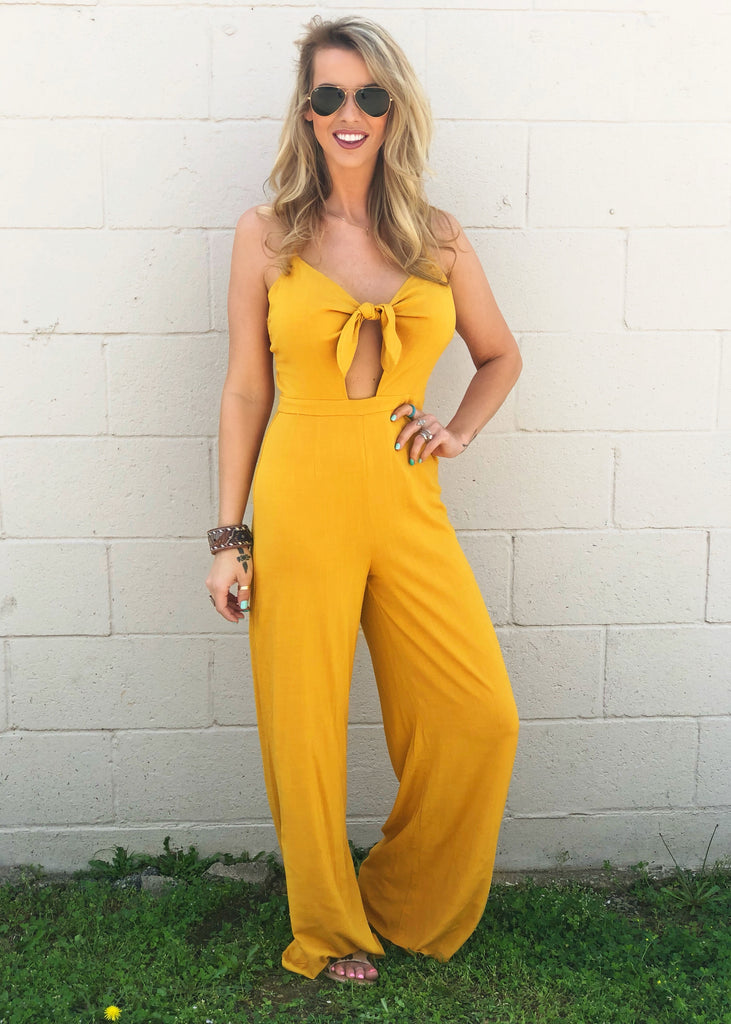 The Ganado Jumpsuit in Mustard - Gypsy Waltz