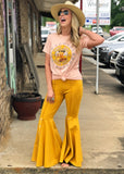 The Inez Bell Bottoms In Mustard (S-3XL) - Gypsy Waltz