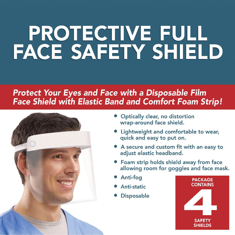 Protective Full Face Safety Shields 4pcs