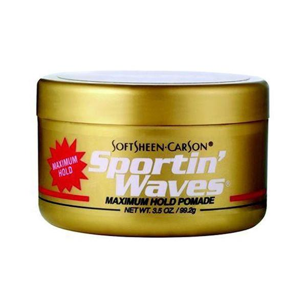 Softeen-Carson Sportin' Waves Max Hold Pomade Gold 3.5oz