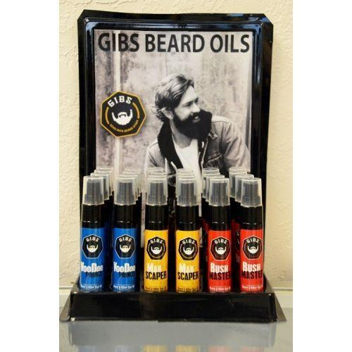 GIBS Beard Oil Display 12pcs