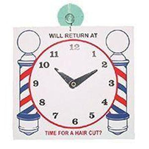 """Will Return"" Barber Shop Clock"
